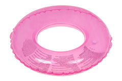 Pink inflatable round tube (Clipping path) Royalty Free Stock Photography
