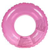 Pink inflatable round tube (Clipping path) Stock Images