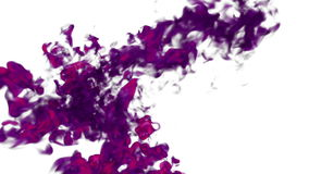 Pink Ink with alpha mask underwater move in slow motion. VFX Cloud of Ink or smoke for transitions, background, overlay stock video