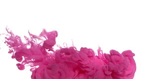 Pink ink in water