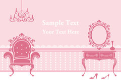 Pink Interior background Stock Photo