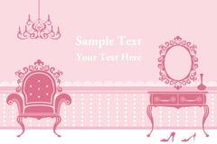 Pink Interior background. Illustration Stock Photo