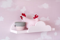 Pink  interior design of baby room Stock Photo