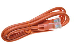 Pink internet network patch cord Royalty Free Stock Photos