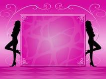 Pink invitation Royalty Free Stock Photos