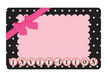 Pink invitation Royalty Free Stock Image