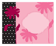 Pink invitation Stock Photography