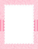 Pink invitation background Royalty Free Stock Photos