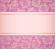 Pink invitation card Royalty Free Stock Photo