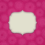 Pink Invitation Card with Blank Label Royalty Free Stock Photos