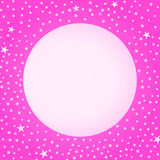 Pink Moon and Stars Mothers Day Card Stock Image