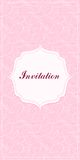 Pink Invitation Card Stock Photo