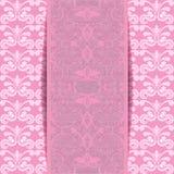 Pink invitation Stock Photos