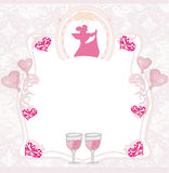 Pink invitation to the prom dance Royalty Free Stock Photo