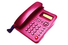 Pink IP  phone closeup Stock Photography