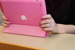Pink Ipad. Stock Photo