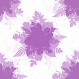 Pink isolated foliage silhouettes seamless pattern Royalty Free Stock Photography