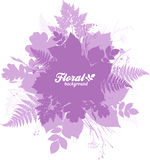 Pink isolated foliage silhouettes trendy banner Stock Photos