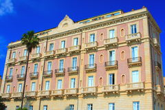 Pink italian hotel Stock Photos