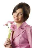 Pink jacket girl Royalty Free Stock Photo