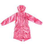 Pink jacket with hood Stock Photo