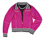 Pink jacket isolated Royalty Free Stock Images
