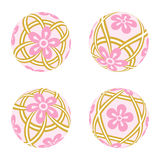 Pink Japanese Old-fashioned toy ball.  Royalty Free Stock Photography