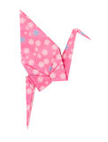 Pink Japanese paper craft origami bird Royalty Free Stock Images
