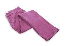Pink jeans Stock Image