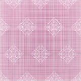 Pink jeans and stamp decor Royalty Free Stock Images