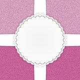 Pink jeans template card Royalty Free Stock Images