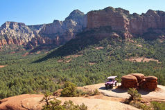 A Pink Jeep Tour on Broken Arrow Trail Royalty Free Stock Photography