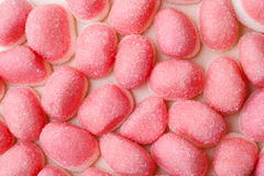 Pink jellies or marshmallows as background Stock Photography