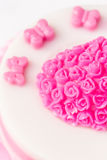 Pink jelly cake Stock Photography