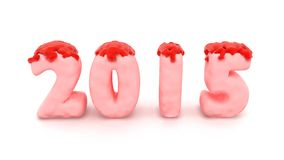 2015 Pink Jelly Royalty Free Stock Photography