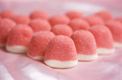 Pink jelly sweets Stock Image