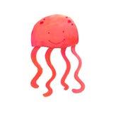 Pink jellyfish Royalty Free Stock Image