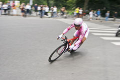 Giro d'Italia - pink jersey time trial Royalty Free Stock Photos