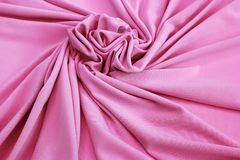 Pink jersey fabric textured Royalty Free Stock Image