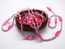 Pink jewellery. For woman. Common stuff for fashion industries royalty free stock photography