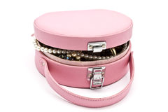Pink jewelry box Stock Photography