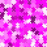 pink jigsaw or puzzle Stock Photos