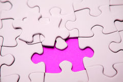 Pink jigsaw puzzle pieces Stock Image