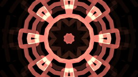 Pink kaleidoscope Tunnel. Against black background stock footage