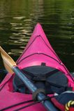 Pink Kayak. Kayaking in Deep Cove- Vancouver-BC. June 2010 Royalty Free Stock Photos