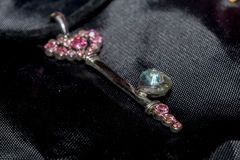 Pink Key Pendant Macro Royalty Free Stock Image