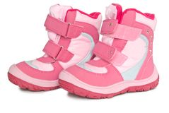 Pink kid's warm boots. Stock Photography