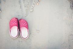 Pink kid shoe Stock Image