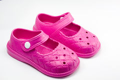 Pink kid shoes Royalty Free Stock Images
