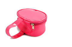 Pink kids bag. Isolated on the white background Stock Photo